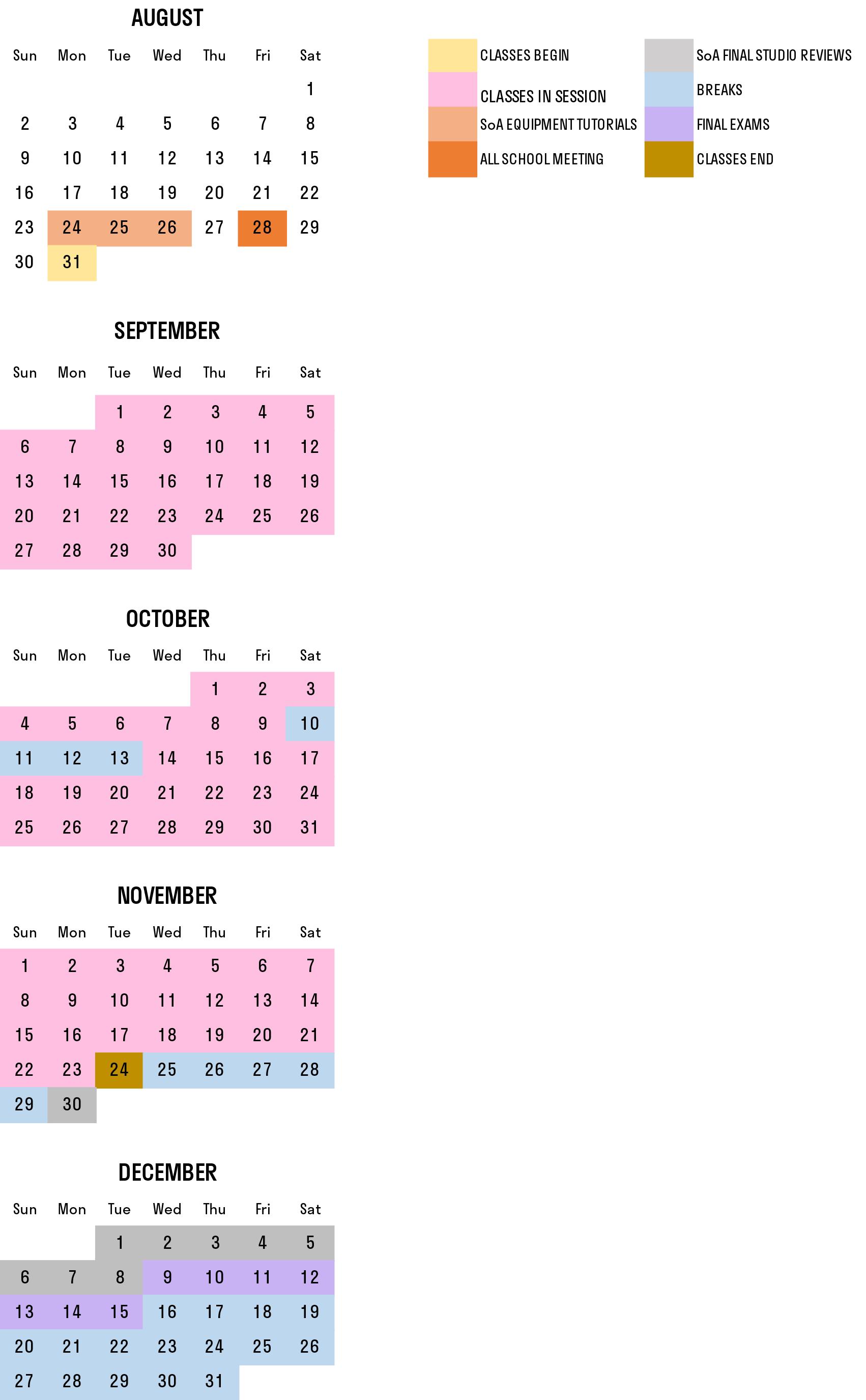 Fall 2020 Schedule | Princeton University School of Architecture