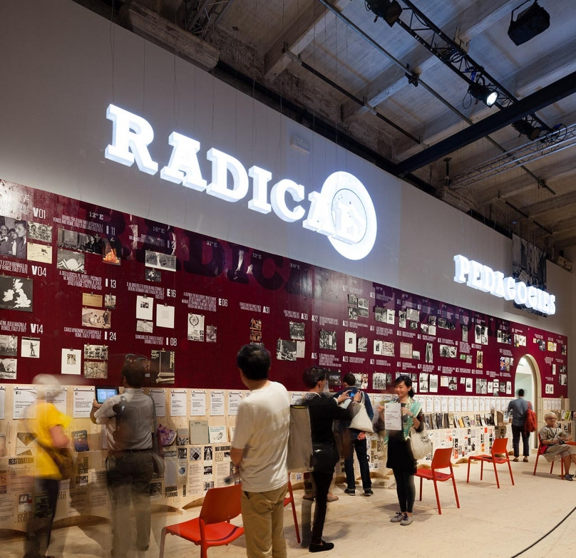 General view of the Radical Pedagogies exhibition wall. Photo: Miguel de Guzman. imagensubliminal.com