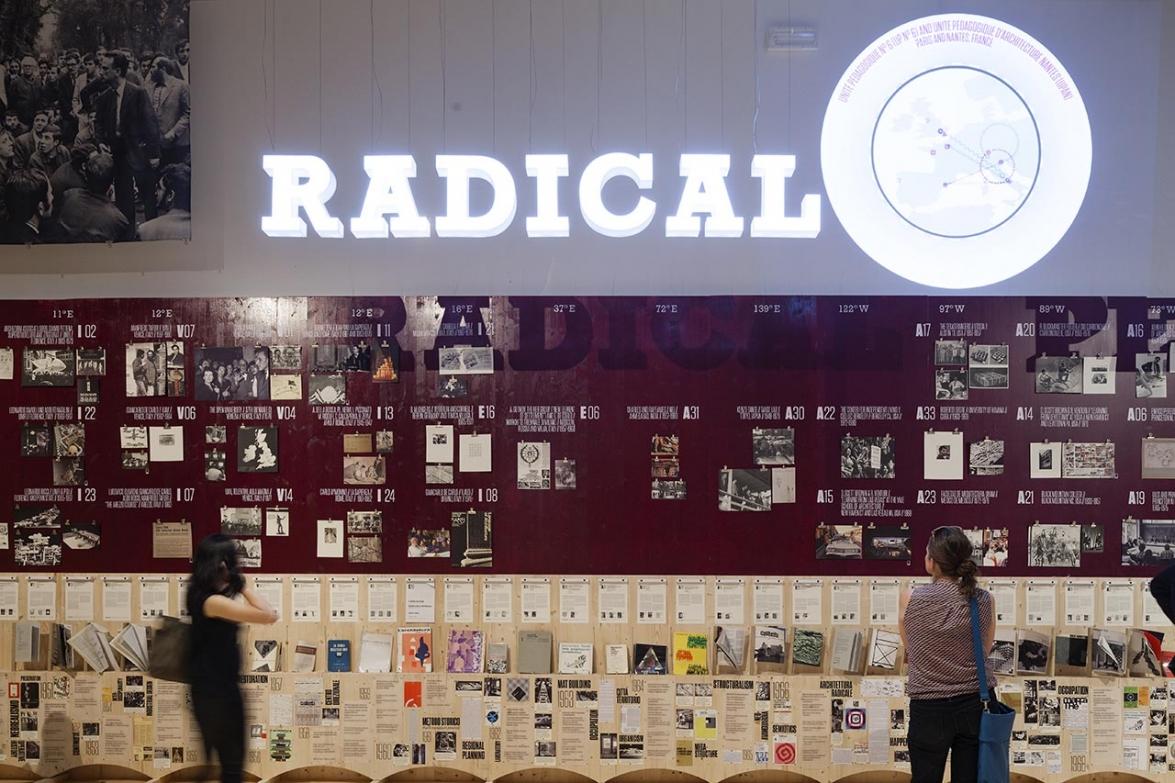 Visitors at the Radical Pedagogies exhibition. Photo: Miguel de Guzman. imagensubliminal.com
