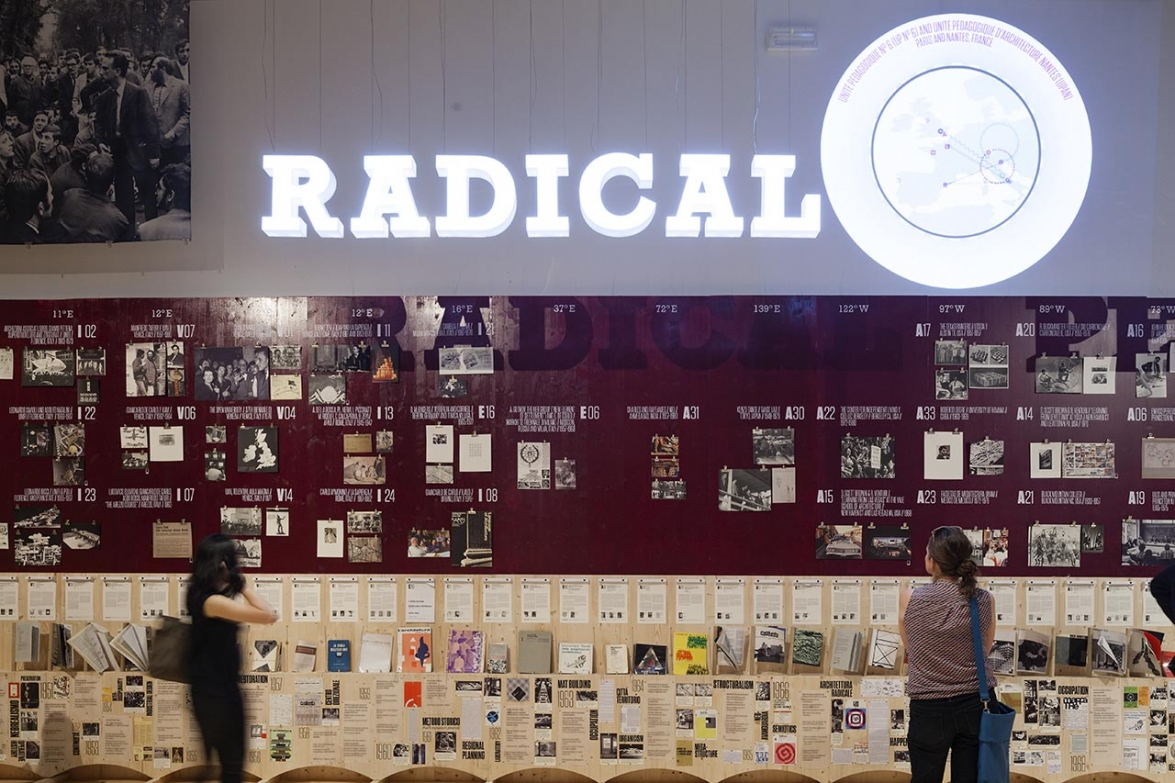Visitors at the Radical Pedagogies exhibition. Photo: Miguel de Guzman. imagensubliminal.com