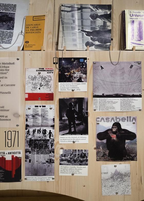 Close-up of the timeline (Italy 1945-1980). Photo: Miguel de Guzman. imagensubliminal.com