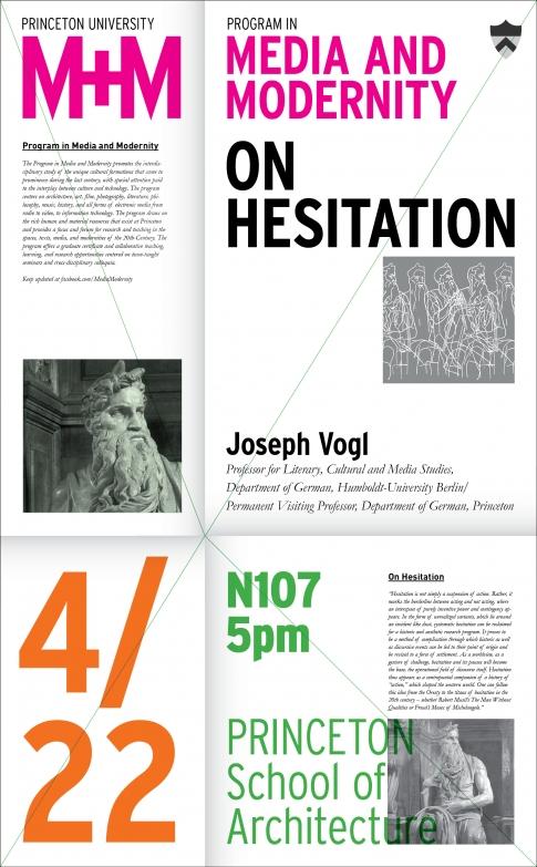 M+M Lecture: Joseph Vogl