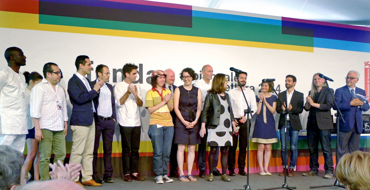 The Radical Pedagogies Team at the Award Ceremony of the 14th Architecture Biennale