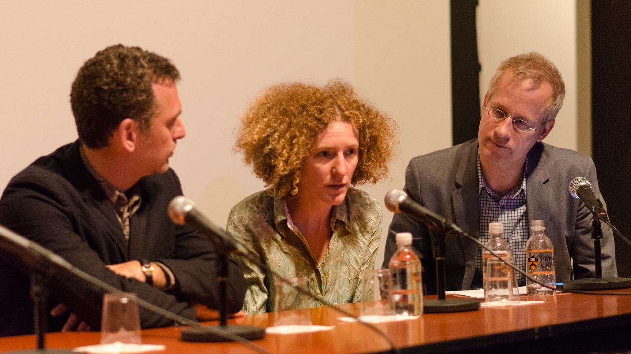Henry Urbach,  Jana Leo De Blas, and Mark Wasiuta. Photo by Dan Claro.