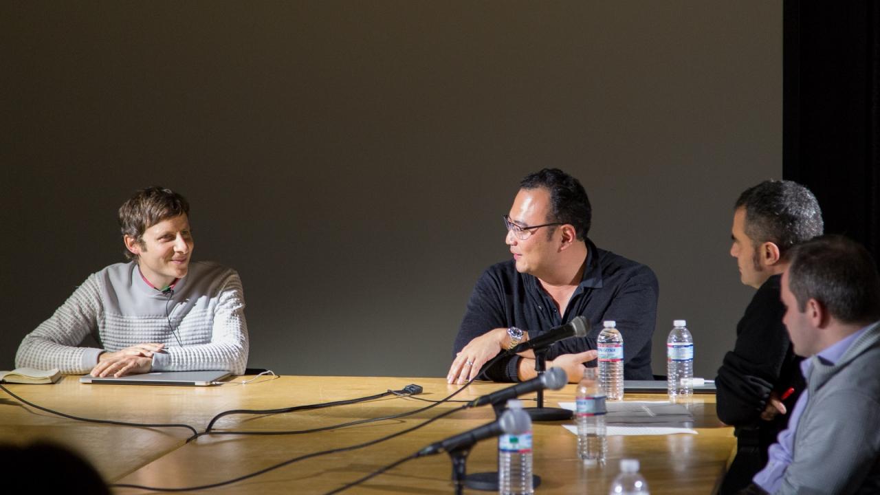 David Benjamin, David Ruy, Alejandro Zaera-Polo,  and Oliver Medvedik. Photo: Dan Claro.