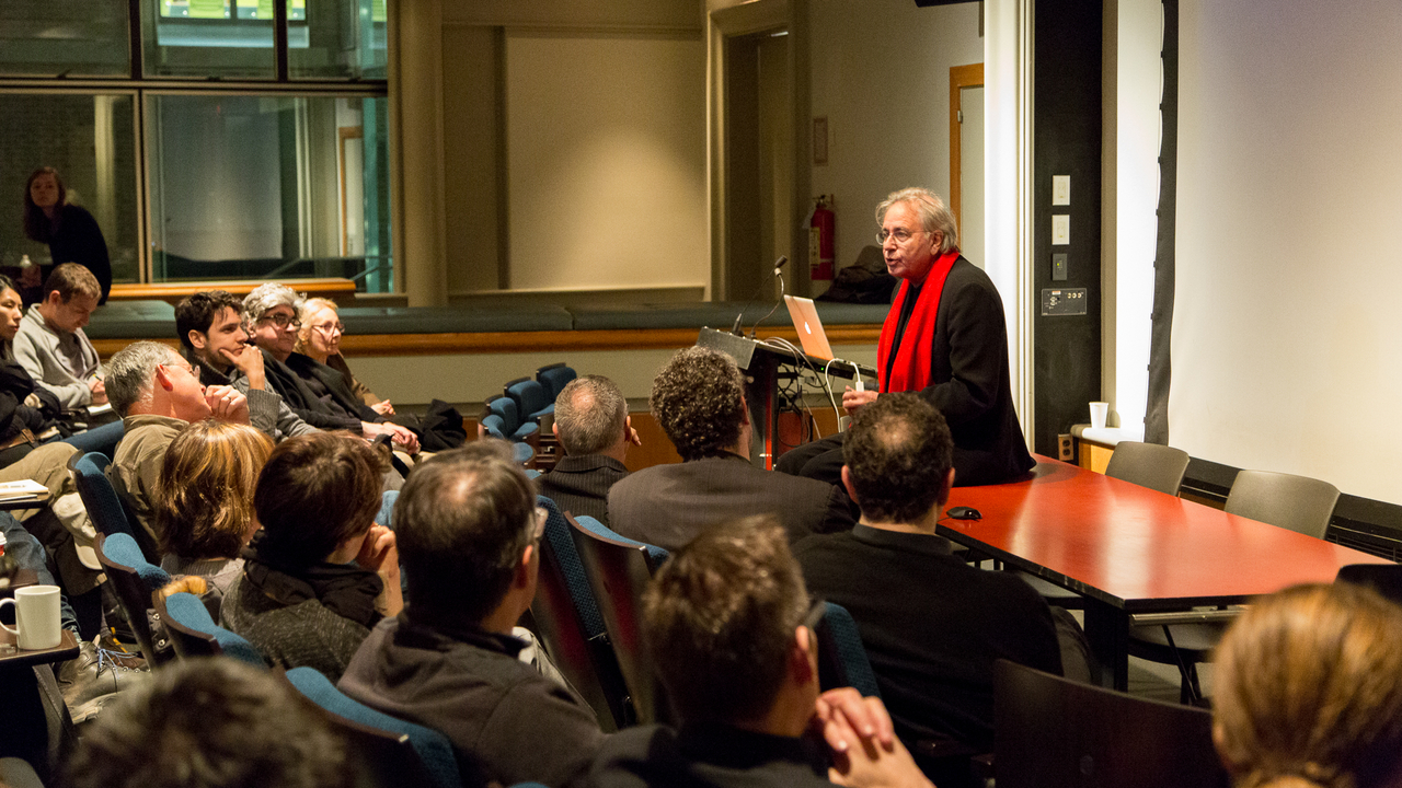 Bernard Tschumi and audience (Photo: Daniel Claro).
