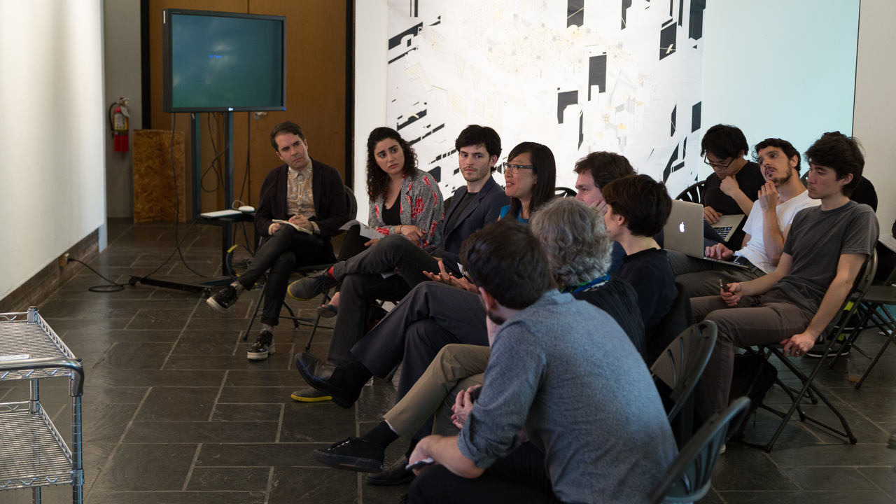 Jaque 506b Studio:  Jury, including Nick Axel, Janette Kim, Johana Londono, and Enrique Walker  (Photo: Daniel Claro).