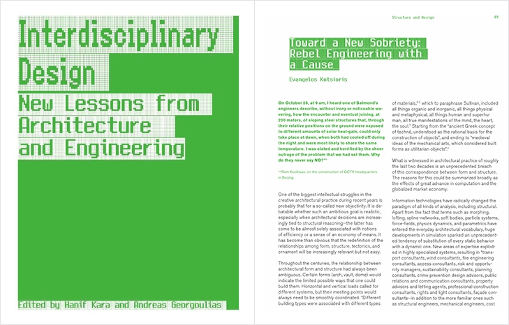 """Towards a New Sobriety: rebel engineering with a cause,"" Interdisciplinary Design (Harvard GSD; Actar, 2012)"