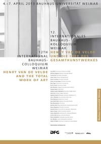 """12. Bauhaus Colloquium Weimar """"Gesamtkunstwerk"""""""