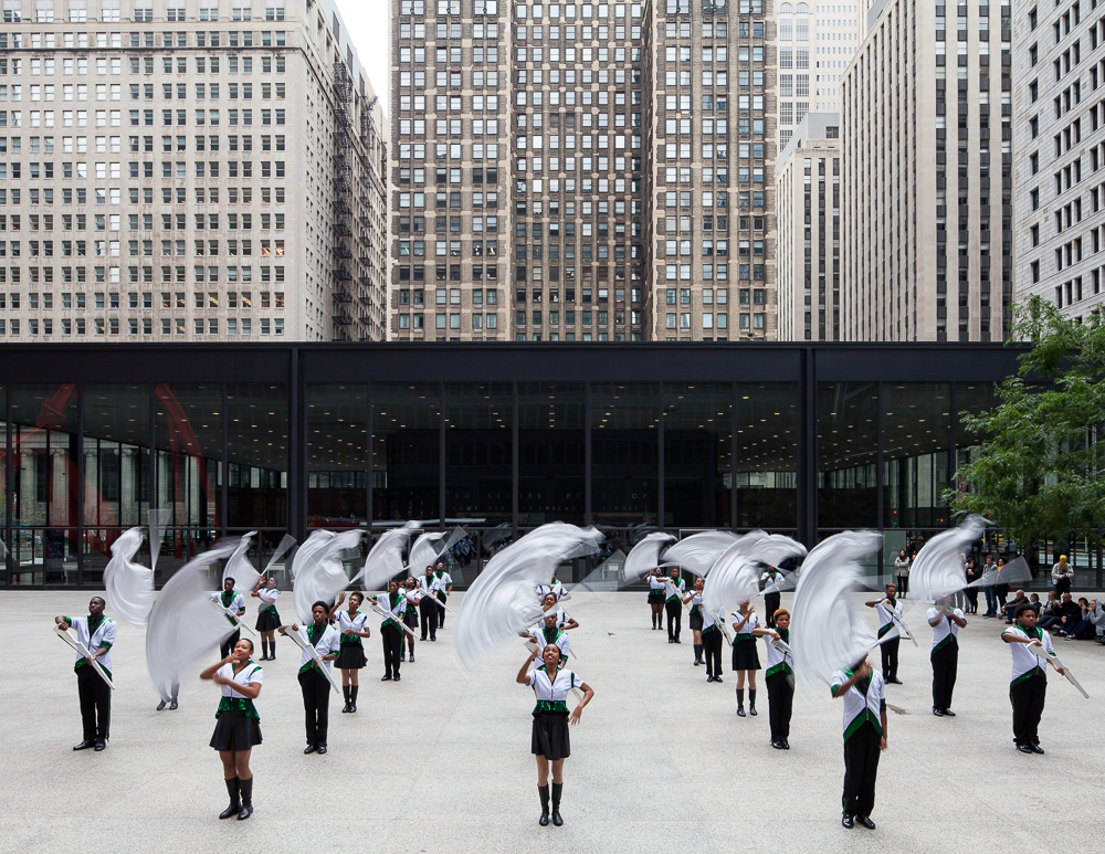 """We Know How To Order,"" Bryony Roberts + South Shore Drill Team, Federal Plaza, October 2, 2015."