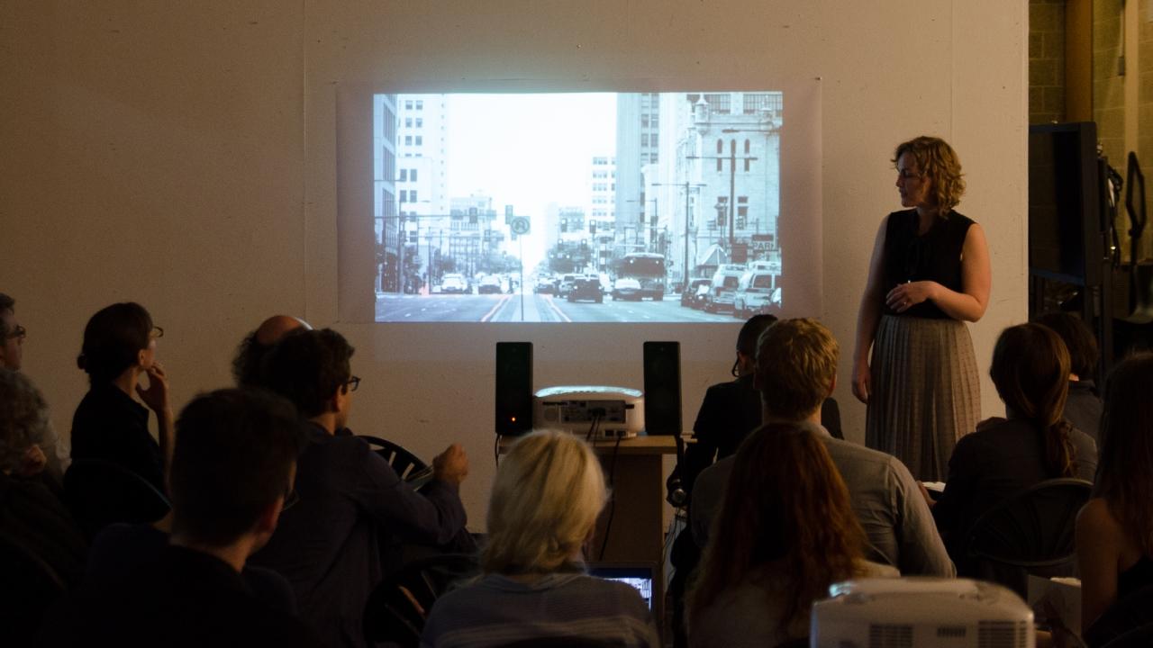 Trudy Watt, Invented but True: Neighborhood Chronicles. Advisor: Mario Gandelsonas. Photo by Dan Claro.