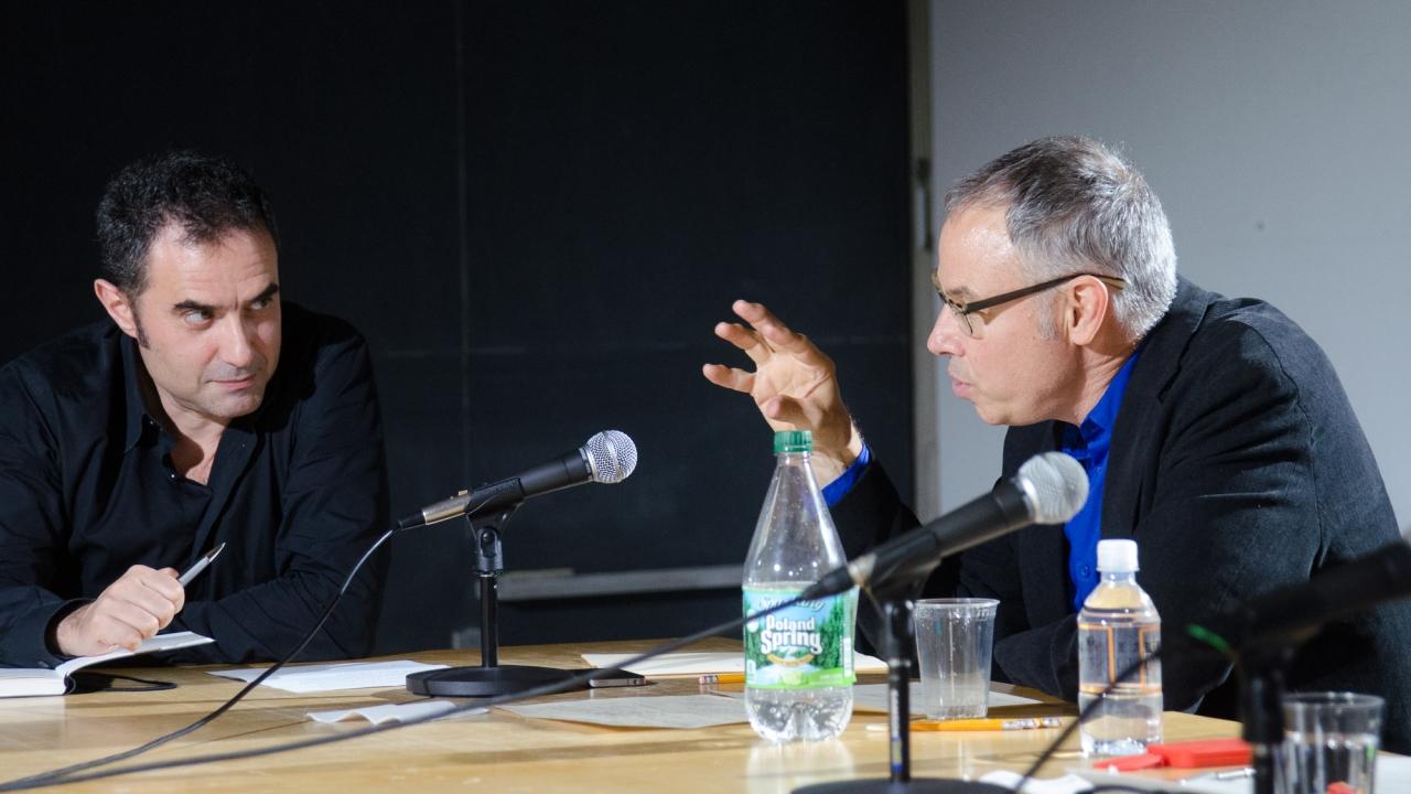 Alejandro Zaera-Polo and Stan Allen.  Photo by Dan Claro.