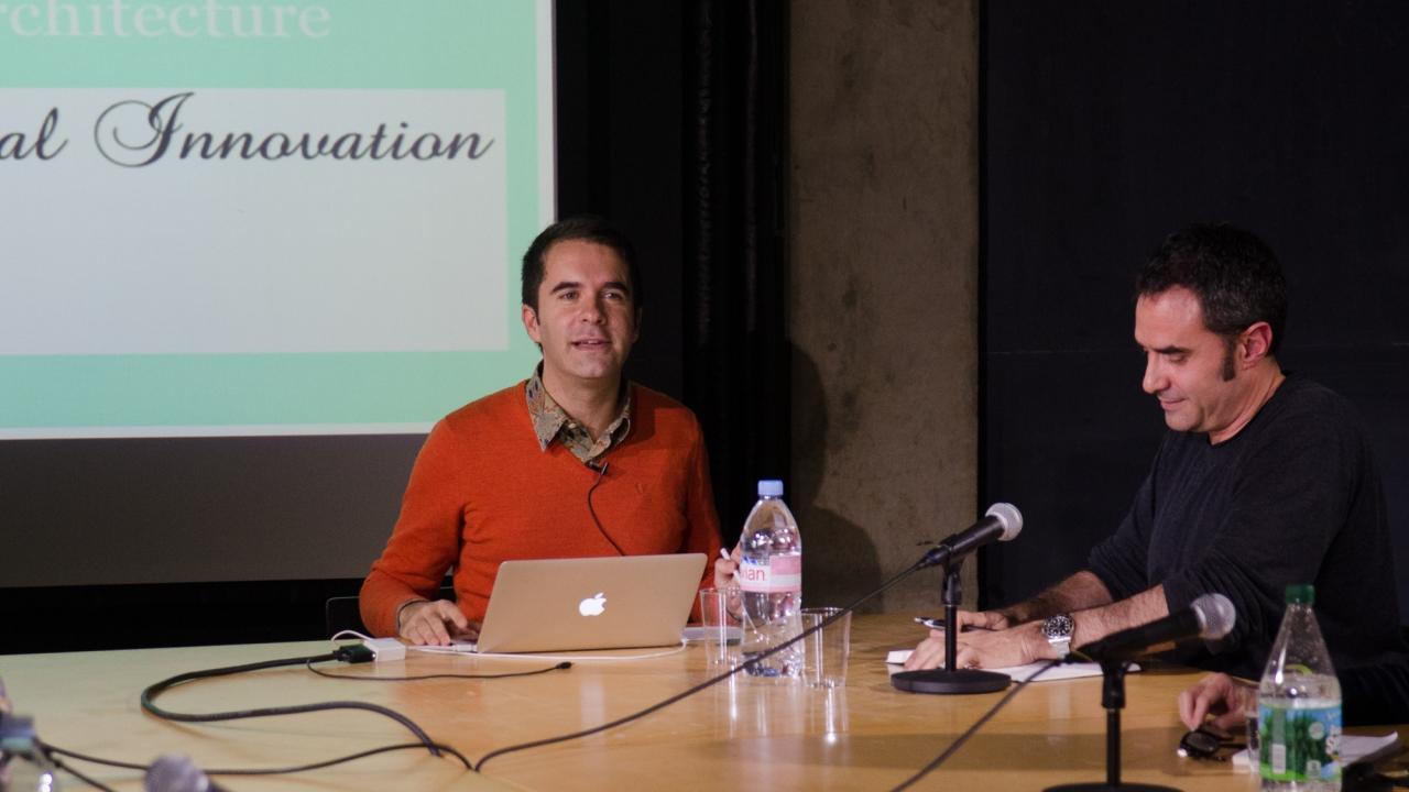 Andrés Jaque and Alejandro Zaera-Polo.  Photo by Dan Claro.