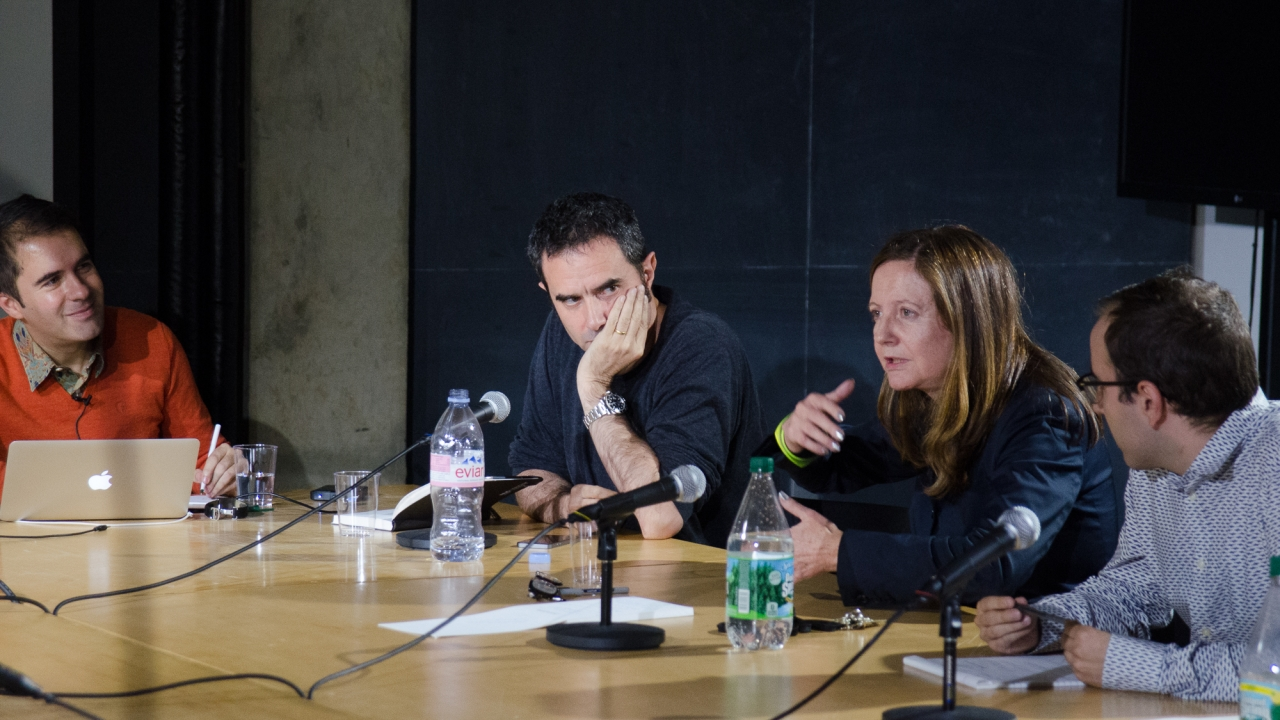 Andrés Jaque, Alejandro Zaera-Polo, Beatriz Colomina, and Lluis Alexandre Casanovas Blanco. Photo by Dan Claro.