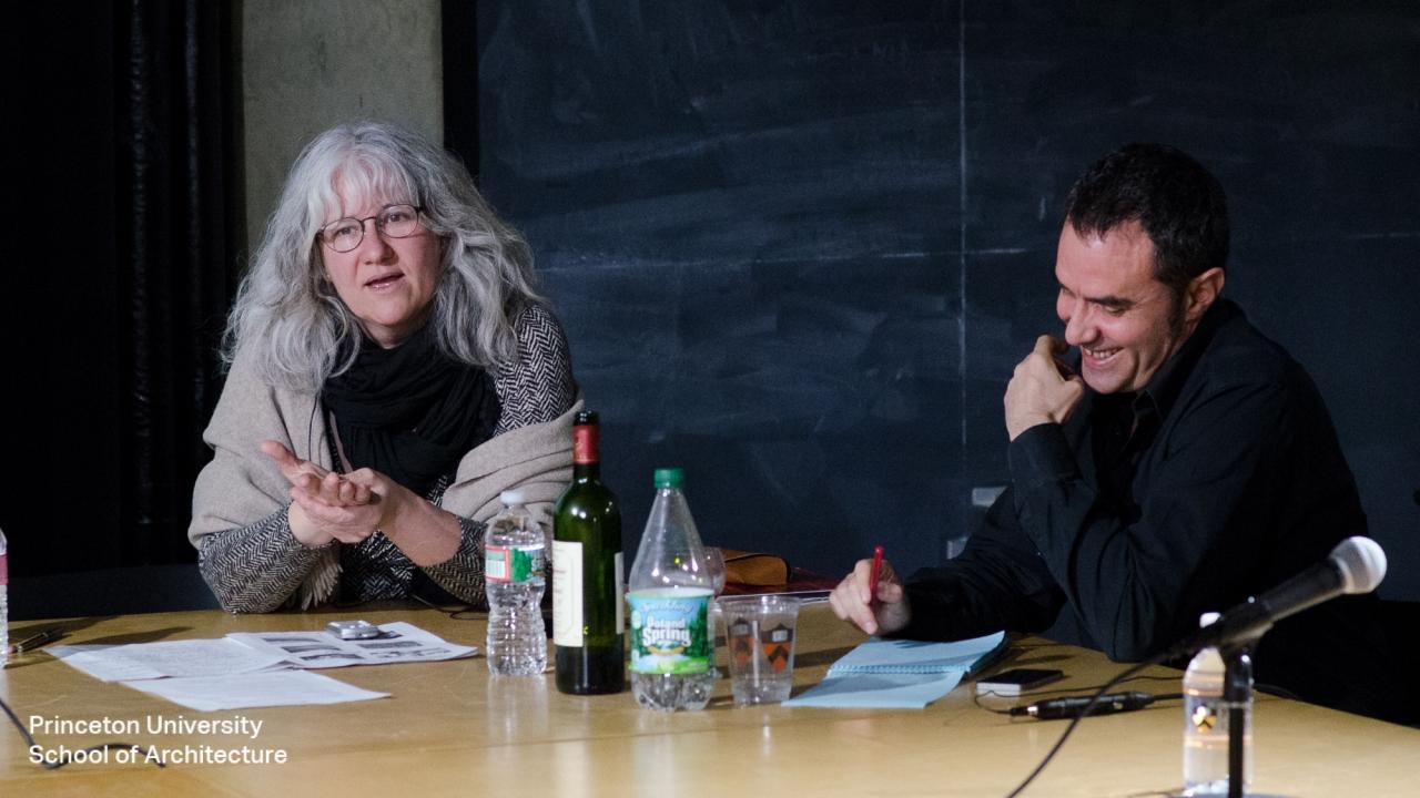 Teresa Gali-Izard and Alejandro Zaera-Polo.  Photo by Dan Claro.