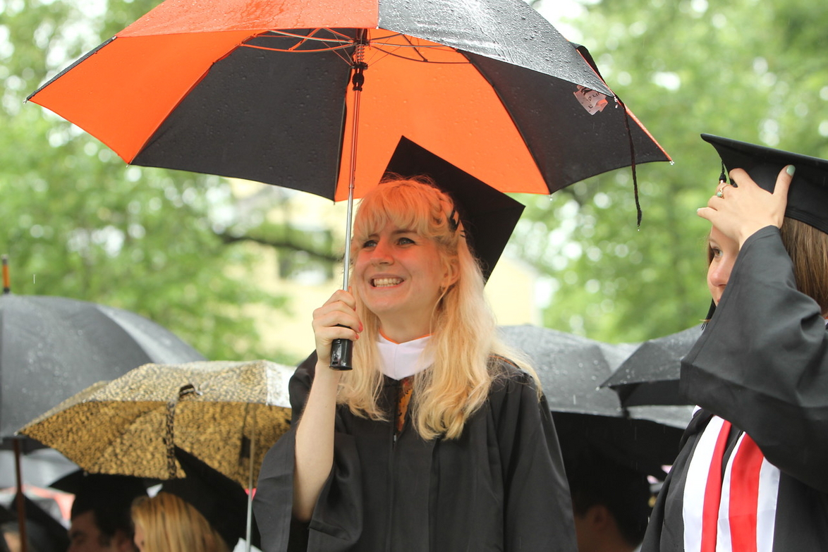 Dalma Foldesi at the 268th Commencement ceremony Photo: Princeton University, Office of Communications (2015).