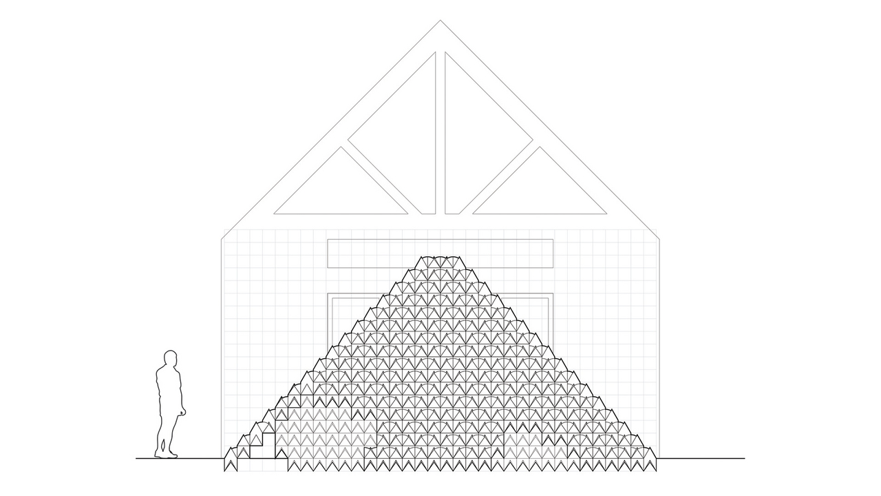Brick pyramid