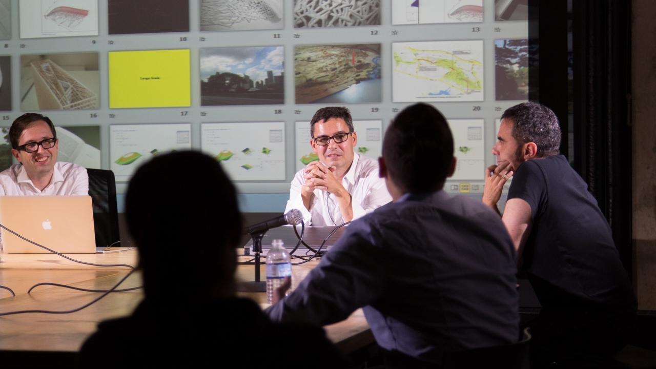 Andrew Witt,  George Legendre, Alejandro Zaera-Polo, and Marc Maxey.