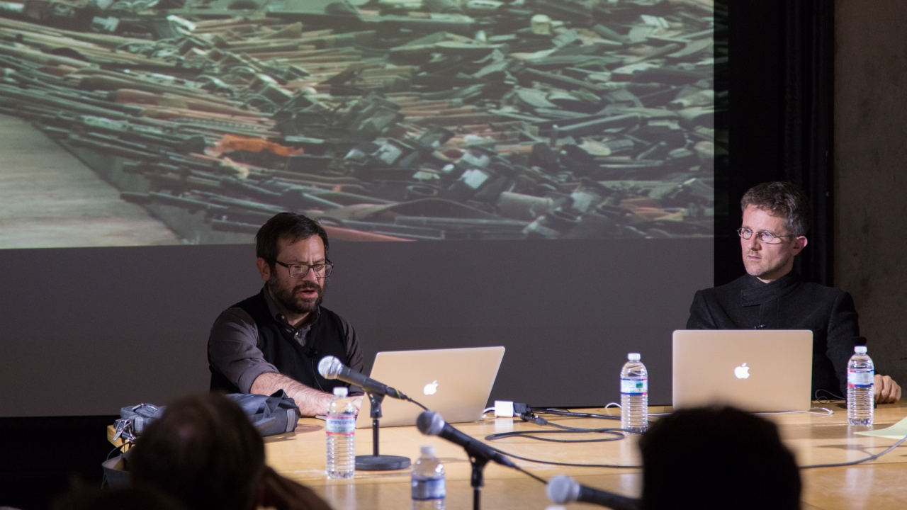 Pedro Reyes and Carlo Ratti.  Photo: Dan Claro.