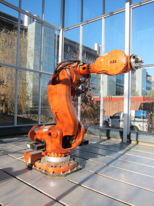 ABB IRB 7600 robotic arm donated by BMW