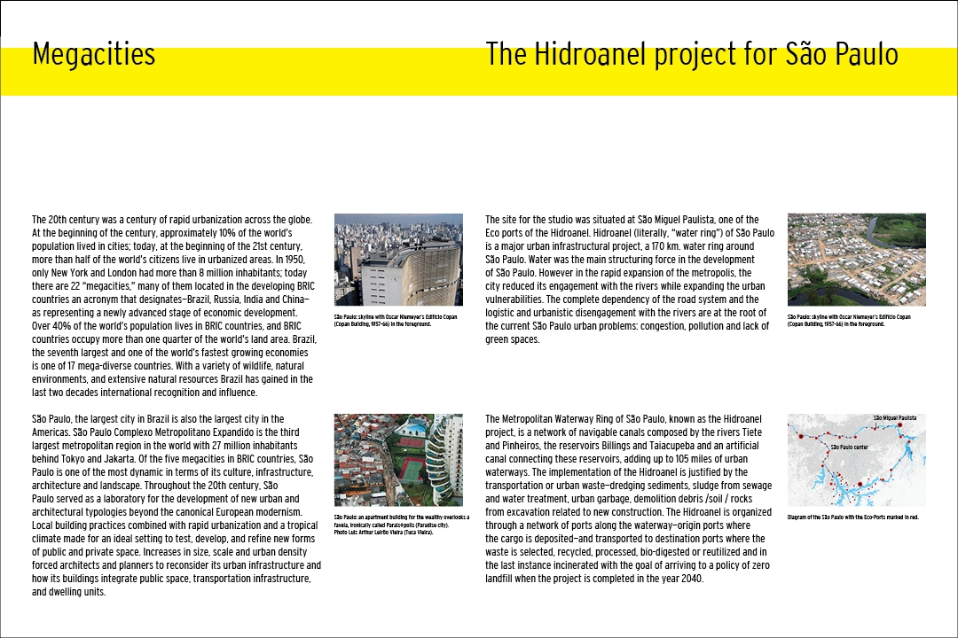 Megacities/ The Hidroanel project for São Paulo