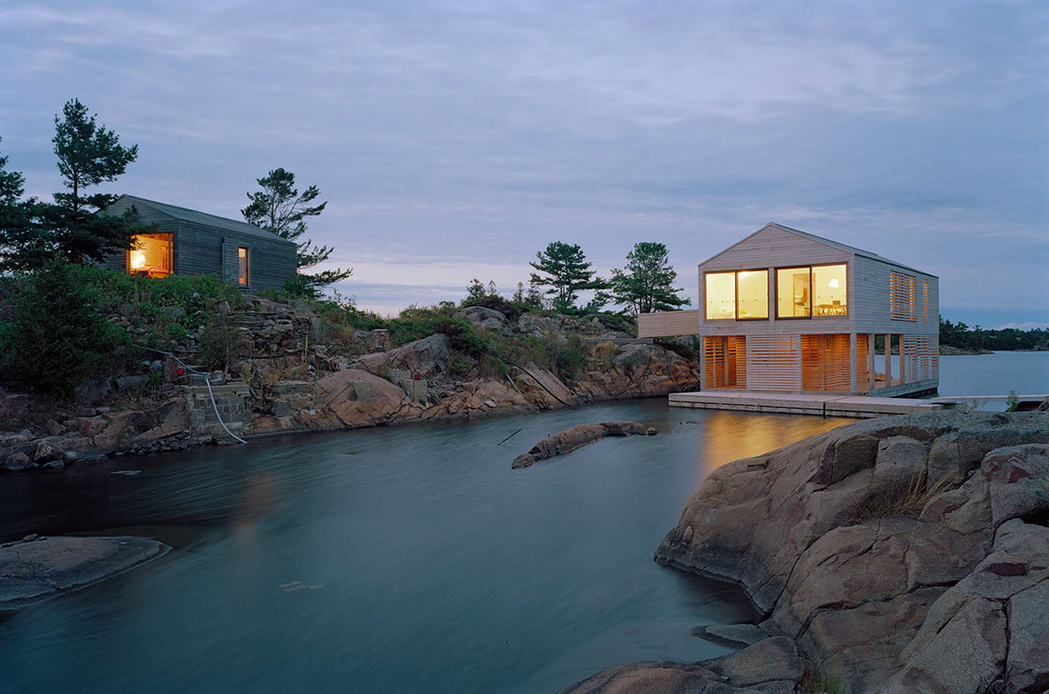 Floating House, Lake Huron, Canada.  MOS Architects.