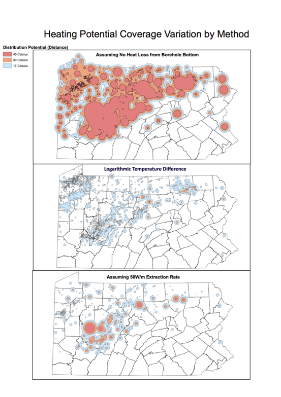 Heating potential extrapolated from publicly available data in Pennsylvania
