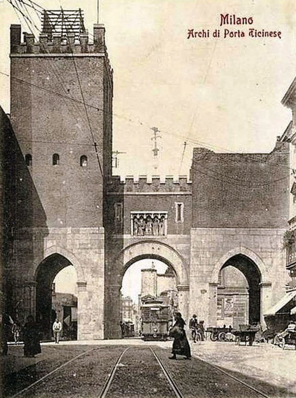 Camillo Boito, Porta Ticinese after its restauro, Milan, 1890s