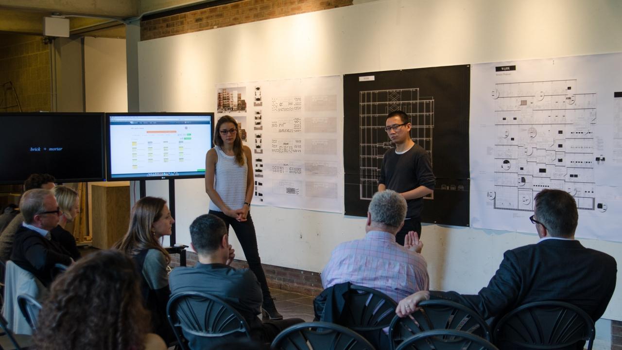 Lindsey May and Fei Wang present in Alejandro Zaera-Polo's Design Studio.