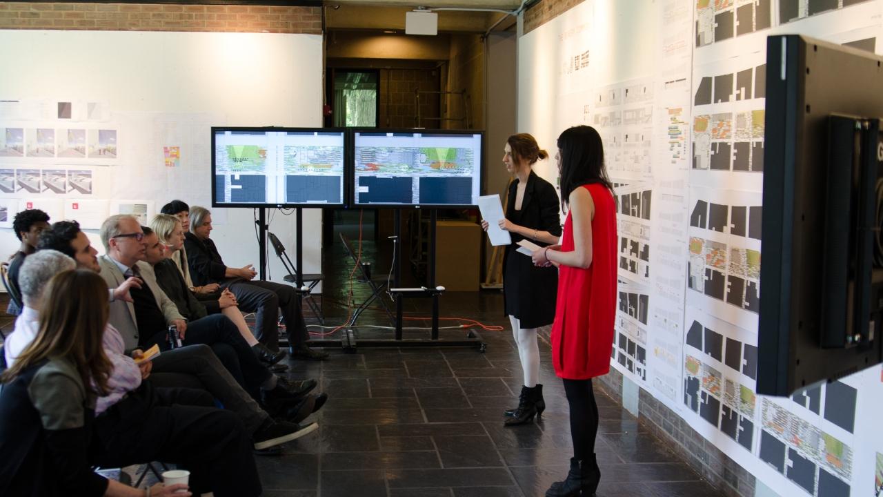 Dorit Aviv and Debbie Chen present in Alejandro Zaera-Polo's Design Studio.