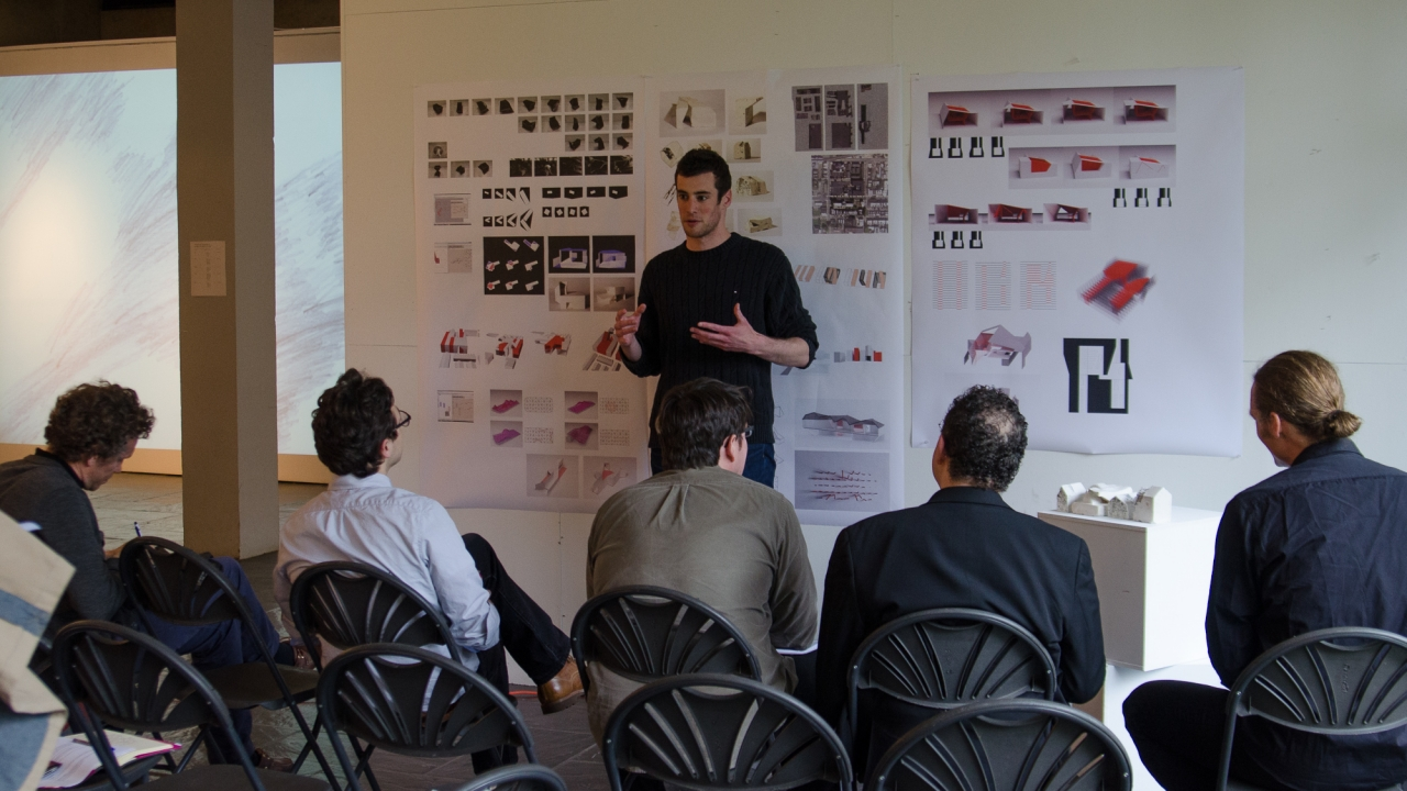 Justin Davidson presents in Axel Kilian's Design Studio.