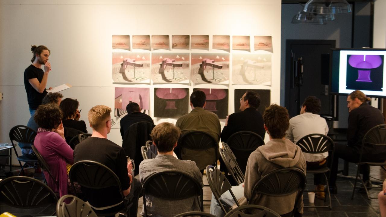 Yshai Yudekovitz presents in Axel Kilian's Design Studio.