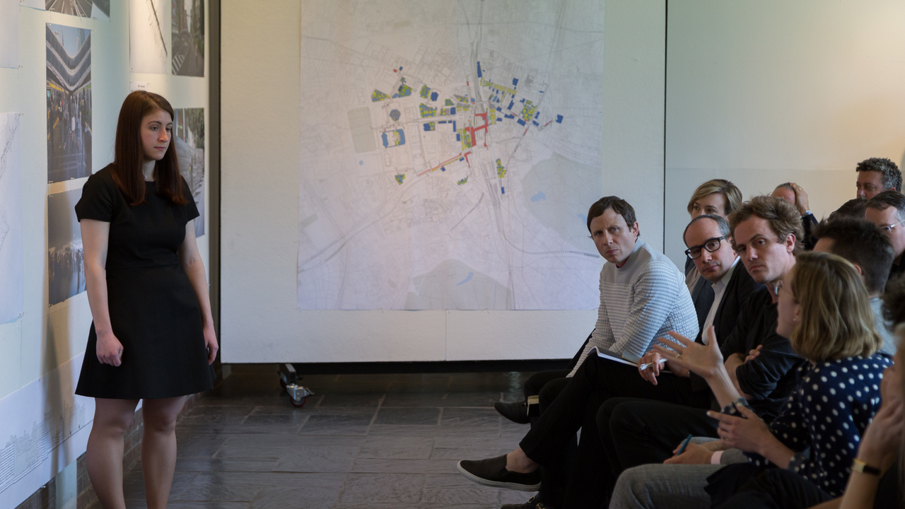 "Laura Britton, ""Differentiated Continuity of the Urban Interior: Thresholds of Shinjuku Station"" (Faculty Advisor: Michael Young).  Photo: Daniel Claro."