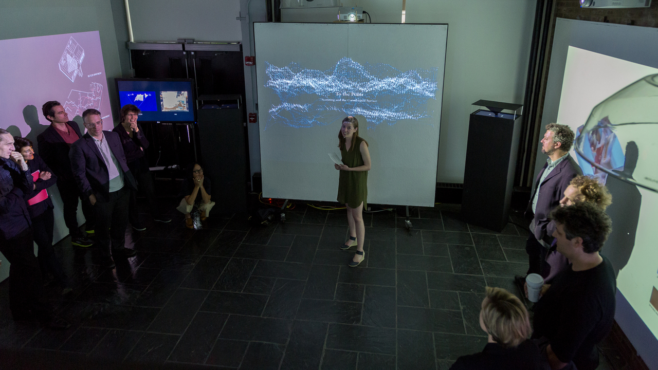 "Gina Morrow, ""To the Point: Scanning and the Coordinated Surface"" (Faculty Advisor: Michael Meredith and Lucia Allais). Photo: Daniel Claro."
