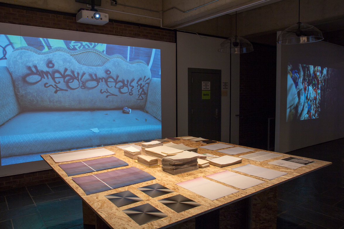 Tracing Waste, Curated by Curt Gambetta and Mariana Mogilevich with art by International Typographical Union.