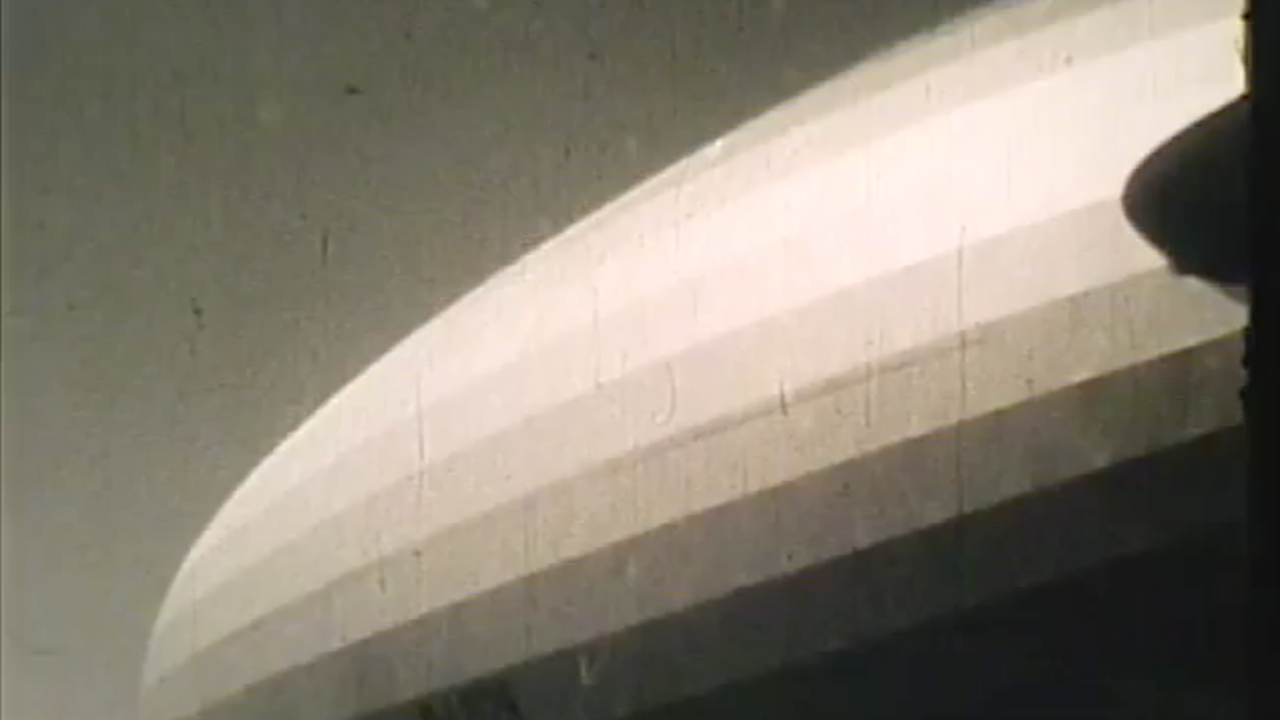 Screen grab from Labatut's 1936 film of the Hindenburg, digitized by Princeton University.