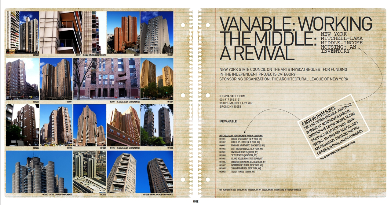 """Ife Vanable - """"Working the Middle — A Revival"""""""