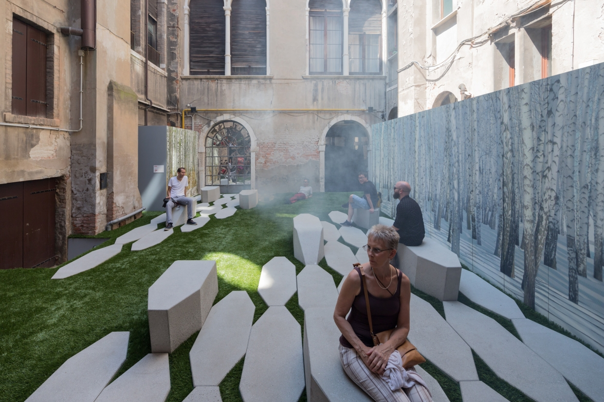 Zaryade Park installation, Moskva Collateral exhibit, Venice Biennale. Photo by Iwan Baan.