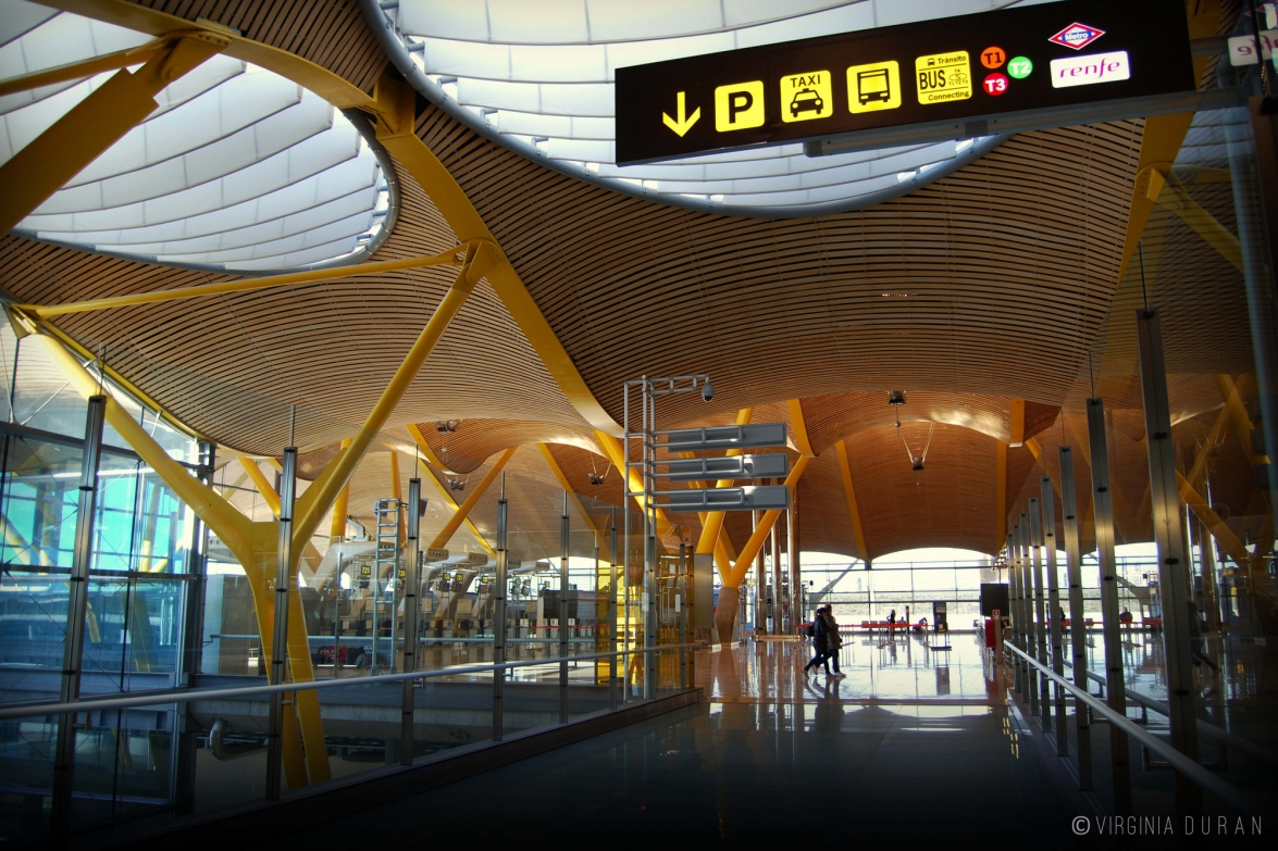 T4 Barajas Airport Terminal, Madrid. Rogers & Lamela Architects ©Virginia Duran