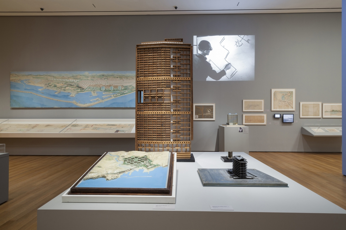 Installation view of the exhibition Le Corbusier: An Atlas of Modern Landscapes. June 15–September 23, 2013. © 2013 The Museum of Modern Art, New York. Photograph: Jonathan Muzikar
